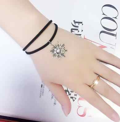 B235 2019 cheap Creative Lace Bracelet Double layer sun Bracelets & Bangles For Woman man Charms Jewelry accessroies