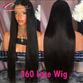 360 Lace Frontal Wig 8-22 Inch Density 150% 180% Silky Straight Virgin Human Hair 8A 360 Full Lace Front Wigs For Black Women