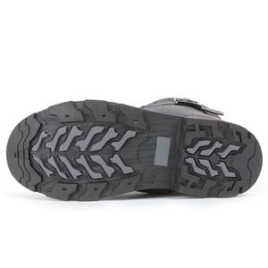 Image 5 - MMnun 2018 مقاوم للماء أحذية الشتاء الفتيان الشتاء حذاء من الجلد الصوفية أفخم حذاء الثلج عالي الرقبة دافئ للأطفال حجم 32 37 ML9849