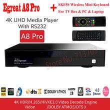Egreat A8 Pro 4 K UHD HDD медиаплеер Поддержка Blu-Ray диск 3D просмотр фильмов DTS и Dolby NSS 3,5 «HDD SATA лоток Android 7,0 ТВ коробка