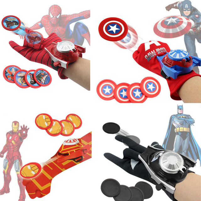 Marvel Avengers Gloves Launchers Toys Infinity War Iron man Batman Captain America Hulk Spiderman Cosplay Launcher Toys For Boy