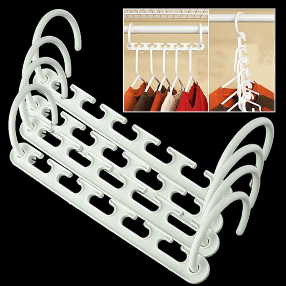 WITUSE High Quality 1/2/4 Space Storage Saving Hanger Magic Clothes Hanger with Hook Closet Organizer Home Tool