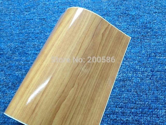 Vinyl Wood Grain Textured Car Wrap Internal Stickers Wallpaper Furniture Paper Film Free Ship