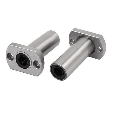 LMH8LUU 8mm Inner Dia Oval Flange Mounted Linear Motion Ball Bearing 2pcs lmh12uu 12mm inner dia oval flange mounted linear motion bushing ball bearing