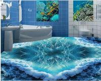 3d wallpaper waterproof Wave 3D Floor 3d wallpaper pvc waterproof wallpaper for bathroom wall