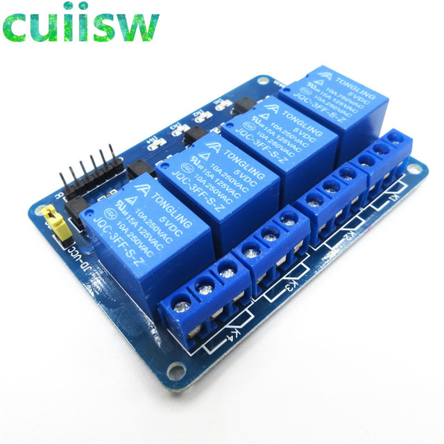 10pcs Lot 4 Channel Relay Module 4 Channel Relay Control Board With