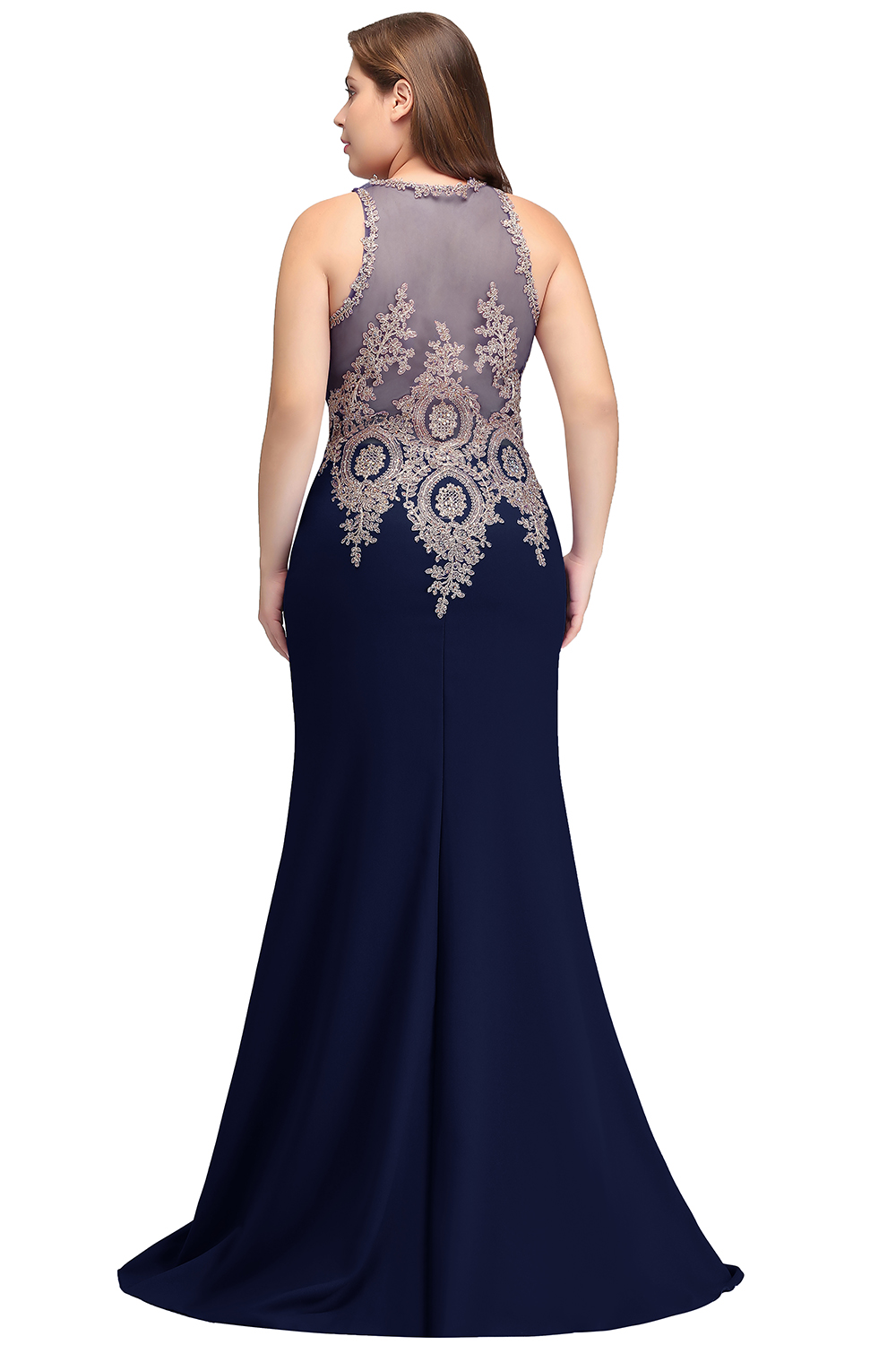 US $45.6 48% OFF|2019 Mother of the Bride Dresses plus size satin Dress  Elegant sleeveless applique Long Mermaid Evening Dress Mother Bride Gown-in  ...