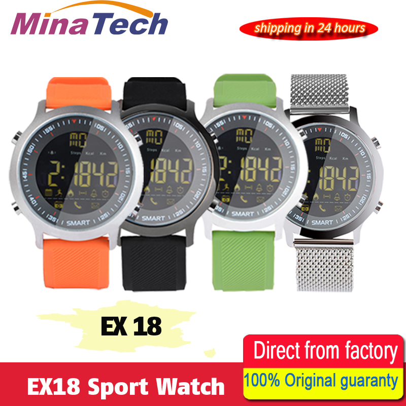 EX18 Sport Smart Watch IP68 Waterproof 5ATM Passometer Xwatch Swimming Smart watch sport watch Bluetooth Watch for Smartphone