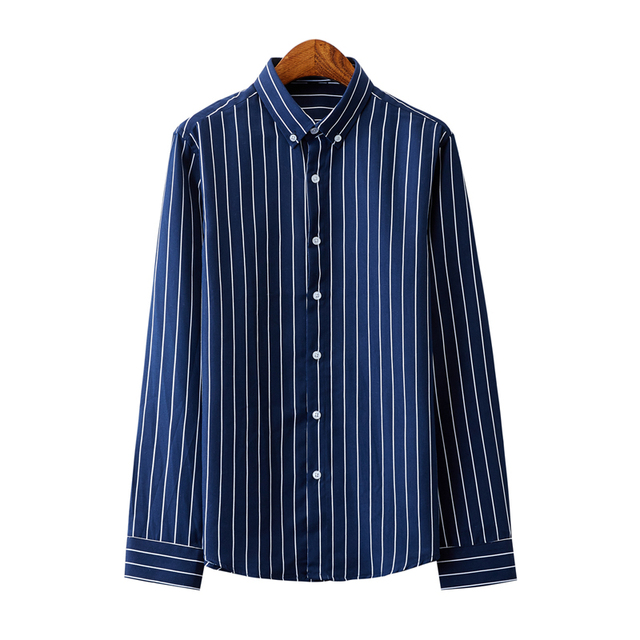 Business Striped Casual Long Sleeved Shirt 2