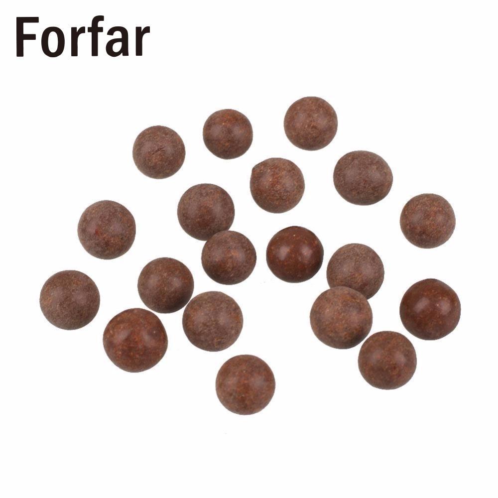 100PCS/Bag Slingshot Beads Bearing Mud Eggs Airsoft Slingshot Ammunition Ammo Solid Drawing-board Clay Mud Beads for Hunting