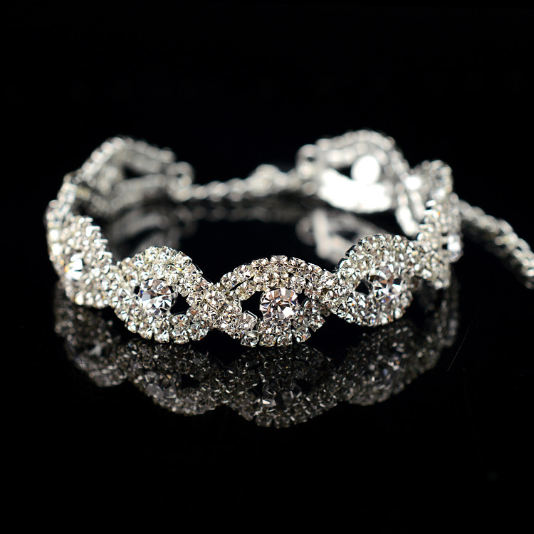 Impeccable Desirable Austrian Crystal Bracelet Braided Rhinestone ...