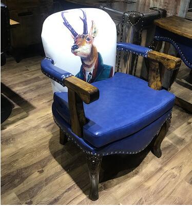 Barber Shop Retro Hair Chair Japanese Lift Hair Chair Special Cut Hair Chair Hairdressing Shop Hair Chair.