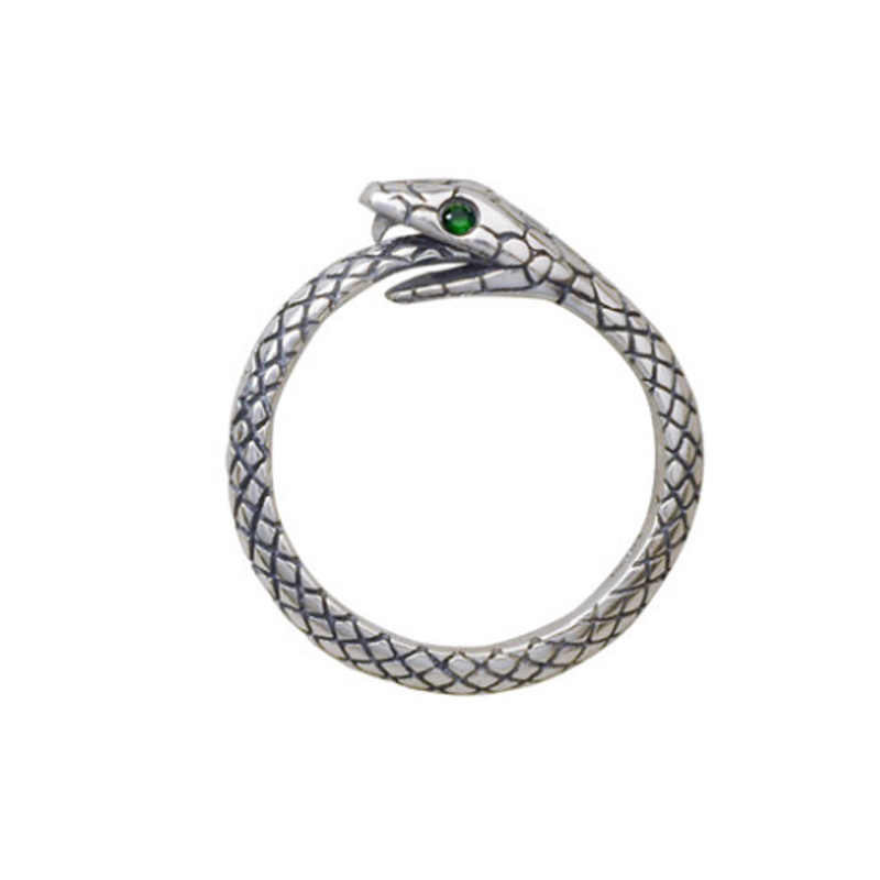100% Pure 925 Sterling Silver Jewelry Snake Rings Opening Vintage Men Signet Ring For Women Fine Gift R1002