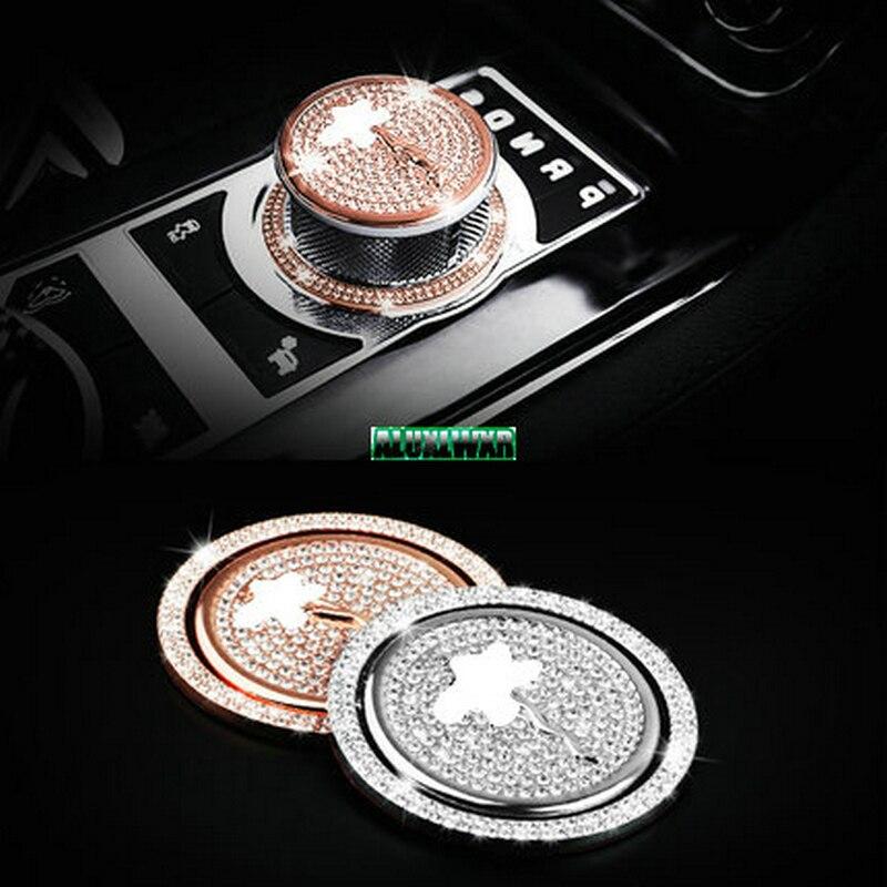 Voiture Pommeau Tête Décoration couverture garniture De Voiture-Style Pour Jaguar XF Sportbrake XFL XE S AWD XJL XJ F-PACE Accessoires 2 PCS