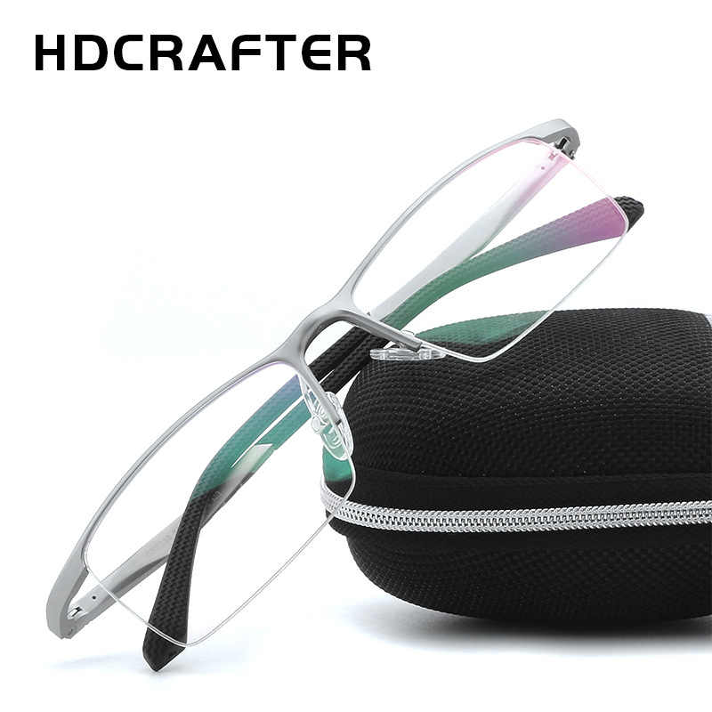 HDCRAFTER анти голубой свет очки мужские рамки компьютер считывающий оптический прозрачные линзы для близоруких квадратных люверсов Lunette Lumiere 2019