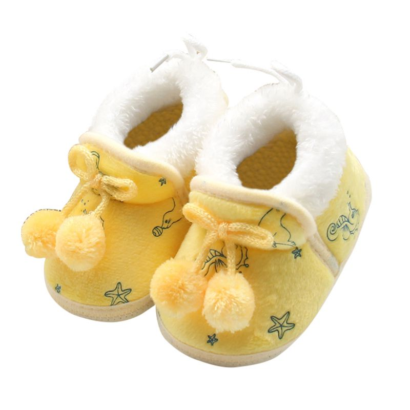 Plush Shoes Boots For 0-18 Months Cute Autumn Winter Kids Baby Boys Girls Cotton Warm Shoes