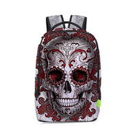 3D Print Skull Casual Travel Bags Men Women High Quality Canvas Portable School Backpack Laptop Bag