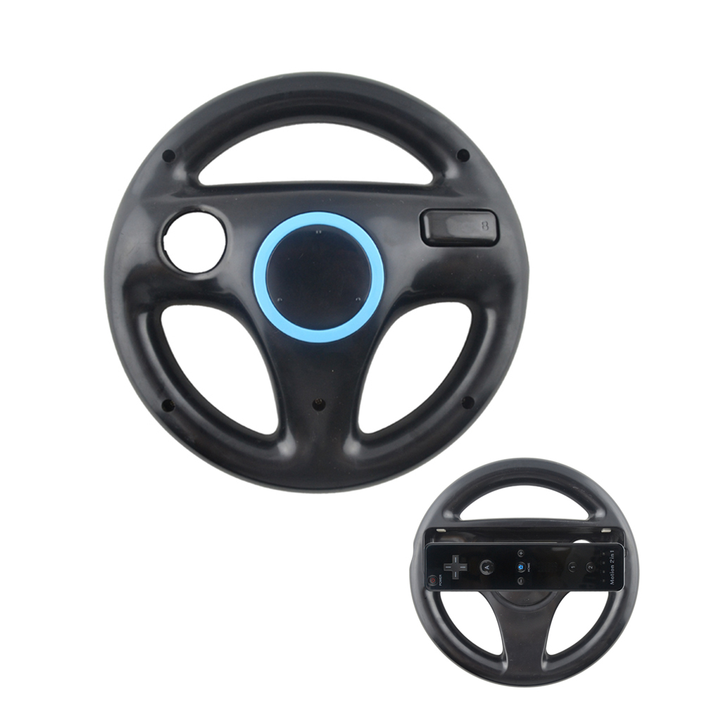 10PCS a lot 5 Colors Racing Steering Wheel For Nintend for Wii M a rio Kart Racing Games Remote Controller Console