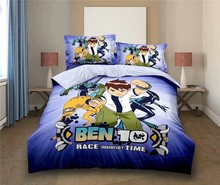 Hot Sale Ben 10 Ben Tennyson Bedding Set Children Baby Cartoon Character Bed Linen Student Dormitory Bedclothes Duvet Cover Sets(China)