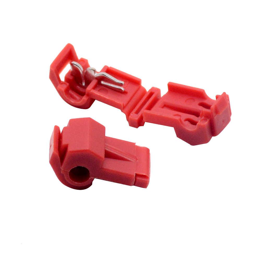 10 PCS RED Scotch Lock Schnell Splice Crimp Terminal Draht Bequem Stecker Für Standard 0,5-1 mm2 Linie