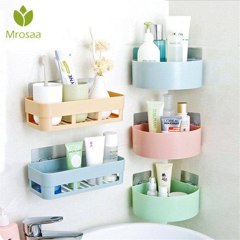 US $4.44 10% OFF|Mrosaa Multi function Wall Corner Shelf Kitchen Storage  Rack Holder Stand Shampoo Shower Gel Mugs Bathroom Shelves Free Punch-in ...