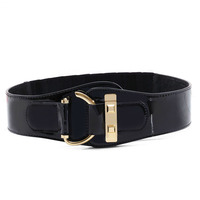 2015 New Fashion Luxury Design Leather Wide Belts For Women Color Brown Black Fabric Women Belt