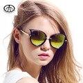 Olhos de gato Mulheres Óculos de Sol do Metal Quadro UV 400 Moda Óculos Escuros de Grife