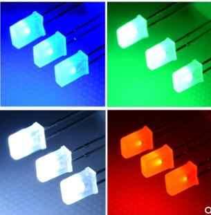 100 Pc Piazza 2X3X4 Led Bianco Dc 3V Rettangolo Led Light Emitting Diode Lampada 2*3*4 Millimetri Ultra Luminoso Della Lampadina 2*5*7 Rosso Verde Blu Giallo