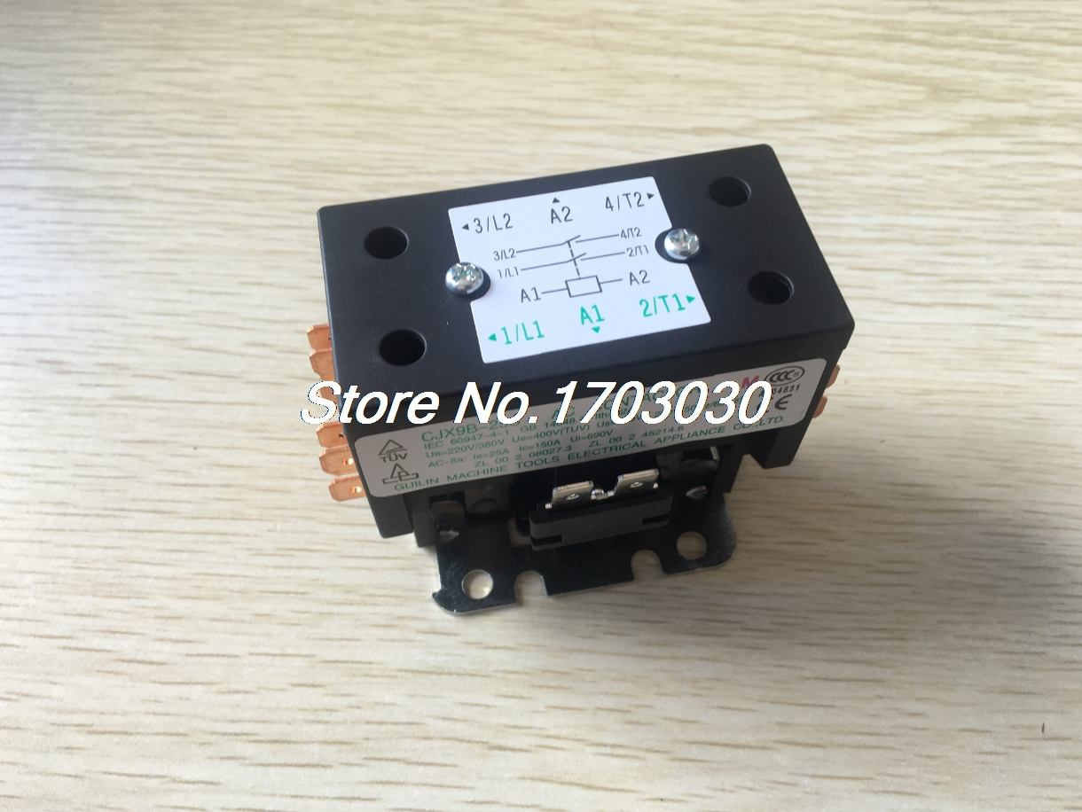 CJX9B-25S 220-240V 50/60Hz Rated Coil Voltage 2 Poles 2NO AC Contactor