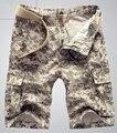 2016 Frete Grátis Hot-venda Men Casual Shorts Homens moda Camo Shorts De Carga Militares de Camuflagem Calções Homens