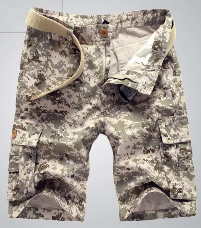 2016 Hot selling Free Shipping Men Casual Shorts Men fashion Camo Cargo Shorts Military Camouflage Shorts