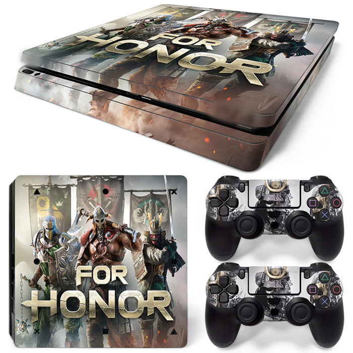 Free Drop Shipping protective skins for ps4 slim for Playstation 4 Slim Console Skin Decal Sticker -FOR HONOR TN-P4Slim-1517