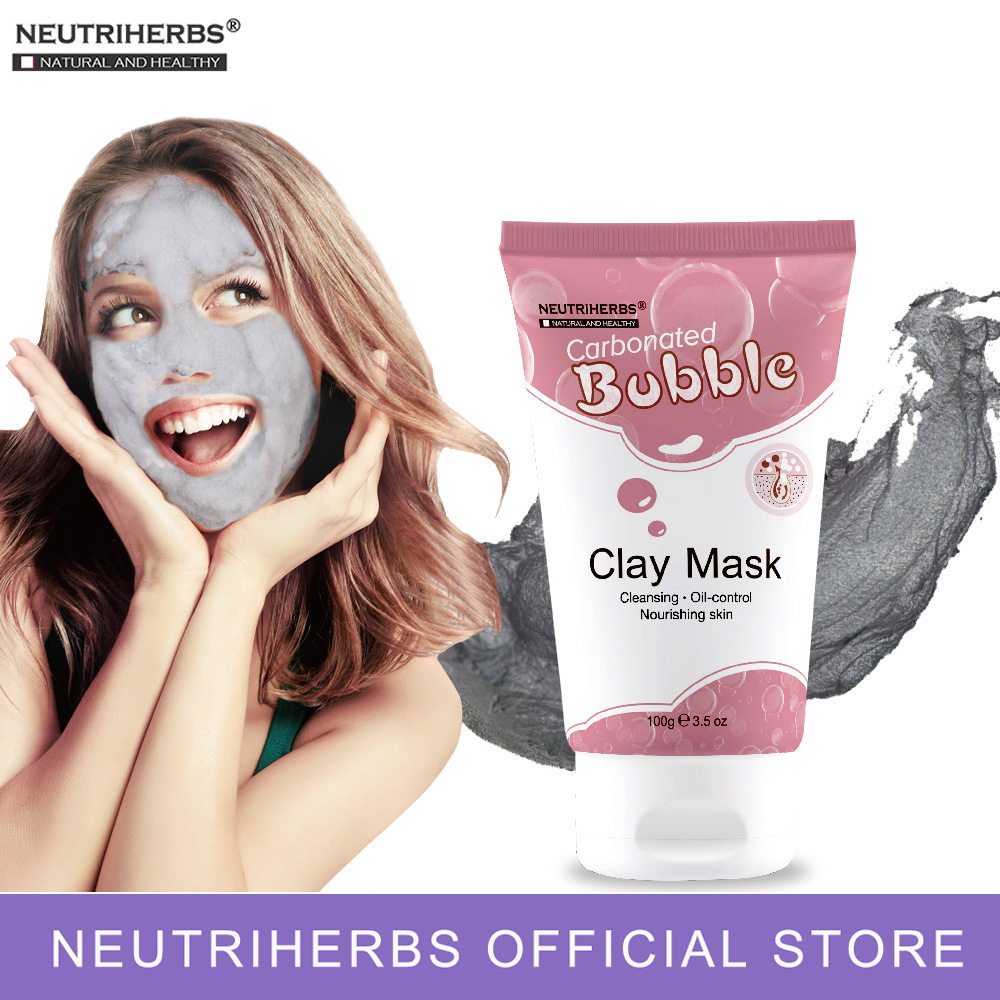 Neutriherbs facial face mask carbonated bubble clay mask for moisturizing facial deep cleansing whole face mask beauty skin care 2 pcs bioaqua carbonated bubble clay