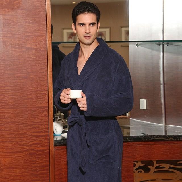 Além de homens de tamanho inverno roupão de algodão engrossar XL muito quente longo robe camisola dos homens macios toalha cobertor de lã em casa do hotel robe