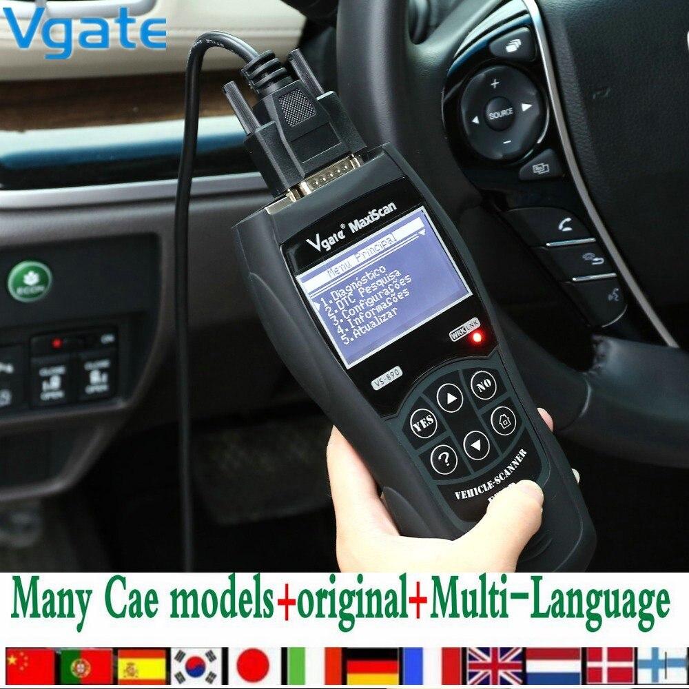Vgate MaxiScan VS890 automotive scanner OBD2 Scanner Code Reader Universal Multi language Car diagnostic font b
