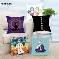Yoga Chakras Cushion Cover Decorative Pillow Case For Sofa Home Decorative Almofadasho Invisible Zipper