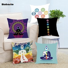 Fresco Yoga Chakras Cojín Throw Pillow Case for Sofá Home Hotel Decorativo almofadasho Invisible Cremallera Dos Lados de Impresión