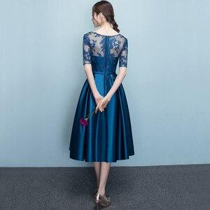 Image 2 - DongCMY Mới Xuất Hiện Ngắn Năm 2020 Bule Màu Hứa Đầm Dự Tiệc Sang Trọng Nữ Váy Đầm Dạ