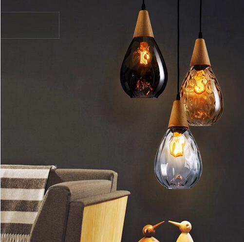 Loft Style Creative Wood Glass Edison Industrail Vintage Pendant Light Fixtures For Bar Dining Room Hanging Lamp Indoor Lighting american edison loft style rope retro pendant light fixtures for dining room iron hanging lamp vintage industrial lighting