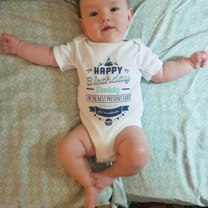 newborn onesie infant clothing baby funny Letter Print Jumpsuit baby Romper summer baby body overall for kids Baby Costumes
