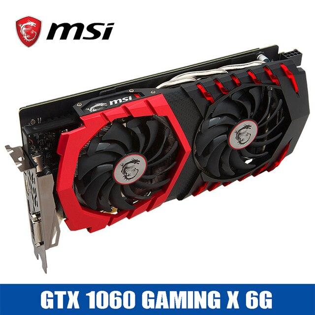 Thợ mỏ Khai Thác Mỏ MSI GTX1060 CHƠI GAME X 6 GB Video Card cho ETH 1594-1809 MHz/8100 MHz 192Bit GDDR5 PCI-E 3.0 DP + HDMI + DVI Card Đồ Họa