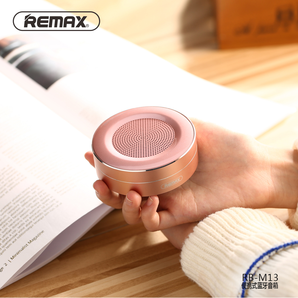 Remax Rb M13 Portable Wireless Bluetooth Speaker Tf Player Hd Type M23 Series Grey Circular With Mic For Phone Pc In Speakers From Consumer Electronics On