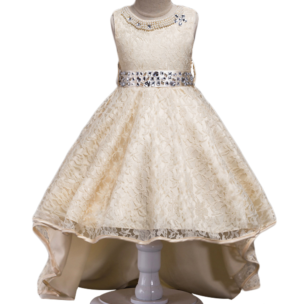 2017 New Girls Dress for Baby Children Flower Girl Princess Dresses Kids Formal Wedding Christening Dress for Party new summer pink children dresses for girls kids formal wear princess dress for baby girl 3 8 year birthday party dress