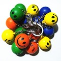 100 piece / pack Fashion PU Smile Face Ball Design  Keychain Key Ring gift Keyring Holder Finder Key-ring
