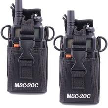 Capa de transporte para motorola, 2 peças de MSC 20C nylon multifuncional com coldre para motorola tyt baofeng UV 5R uvb3 plus walkie talkie