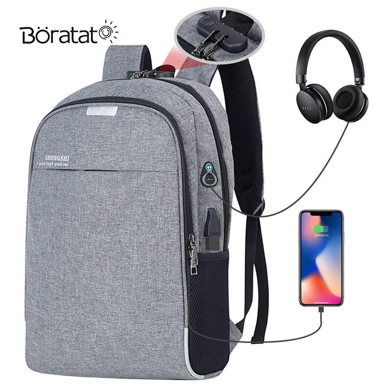 Handbags Computer-Backpack Gym-Bag Travel Usb-Charging-Training Nylon Multifunctional