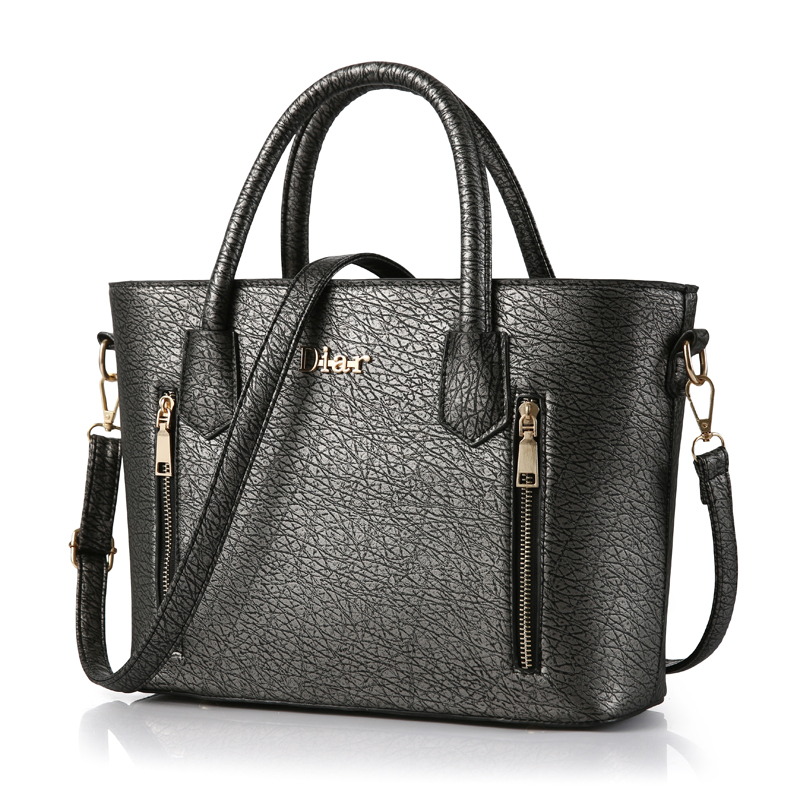zipper top-handle bolsas pu leather Formato : Casual Tote