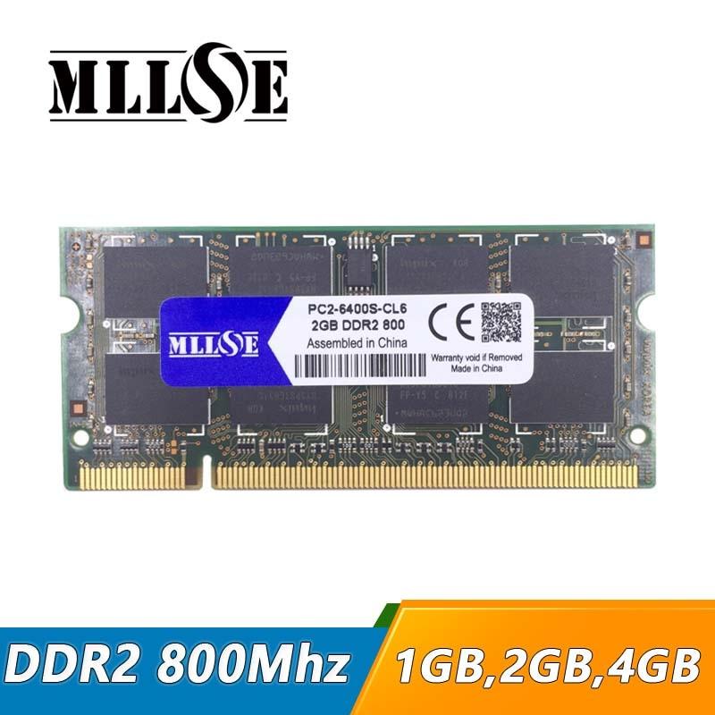 MLLSE 1gb 2gb 4gb ddr2 800 pc2-6400 so-dimm laptop, ddr2 800 2gb pc2 6400 sdram notebook, memory ram ddr2 2gb 800mhz dimm