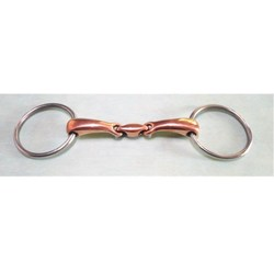 145mm stainless steel horse bit o ring bit with copper mouthpiece western comfort snaffle bit .jpg 250x250
