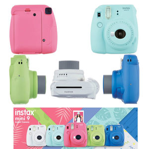 Image 2 - 6 色富士フイルムインスタックスミニ 9 インスタントフィルムカメラ + 20 枚のミニ 8 白のフィルム写真 + バッグケース + アルバム + フィルター + フレーム